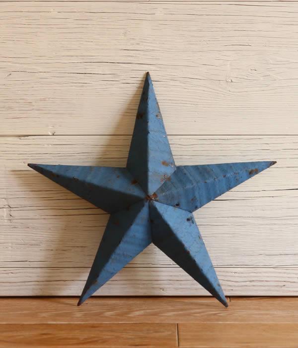 Tin Barn Star / ティンバーンスター : Handmade Tin stars 14inch : ハンドメイドティンスター インテリア 星 スター オブジェ : DBA140-14 【DEA】