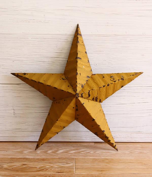 Tin Barn Star / ティンバーンスター : Handmade Tin stars 22inch : ハンドメイドティンスター インテリア 星 スター オブジェ : DBA140-22 【DEA】