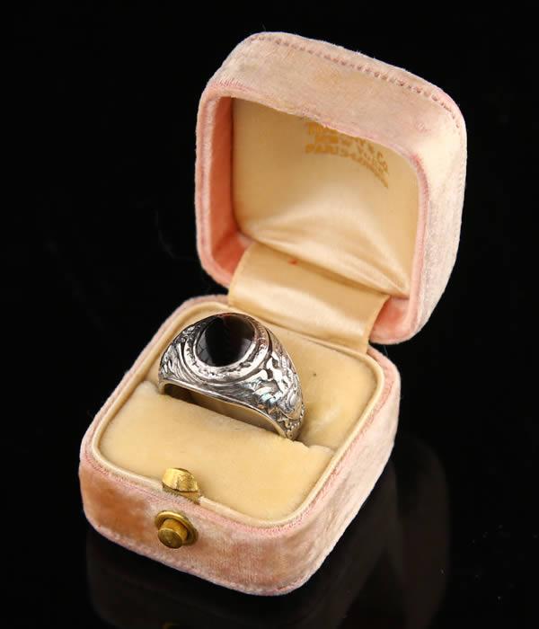 VINTAGE (빈티지)/TIFFANY 1921 WEST POINT PALADIUM RING (티파니 반지 반지 빈티지 대학) ARKVINTAGE-ET215