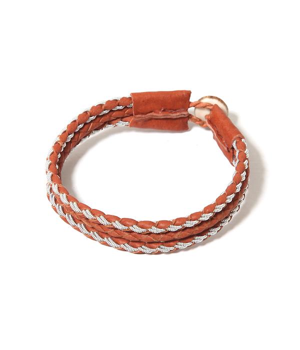 【サマーキャンペーン!】saami crafts / サーミクラフト : BLACELET(leather H/B-01) : ミッドブラウン (ブレスレット) : AL015-B 【PIE】