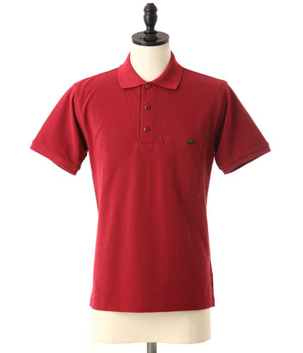 36c44e35fb8b Nigel Cabourn (Nigel cabin) GERMAN POLO-wine (German polo shirt short sleeve)  8050021616