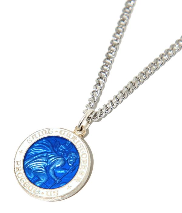 Arknets rakuten global market stristopher necklace s white stristopher necklace s white blue sc1147 wht blu coin pendant sterling silver silver 925 small aloadofball Gallery