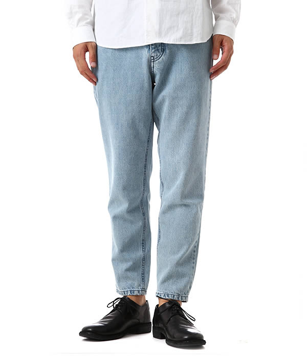 Ami alexandre mattiussi (AMI Alexandre mateucci) / MEN CARROT FIT 5 POCKETS  JEANS-SNOW BLUE-(pants jeans denim, Ami Alexandre mateucci bottom) H15D0463