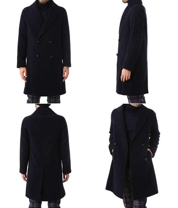 MP di Massimo Piombo / MP ディ マッシモ ピオンボ : Shawl-Collar Overcoat Baby Alpaca-Blend Mix : コート : PW17-P141201【MUS】