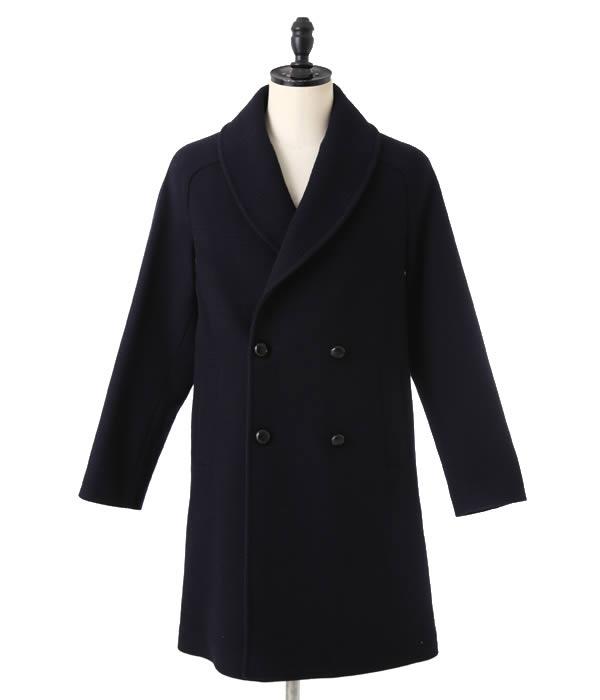 【SPECIAL PRICE!】MP di Massimo Piombo / MP ディ マッシモ ピオンボ : Shawl-Collar Overcoat Grencheck Wool : オーバーコート : PW17-P141902【MUS】