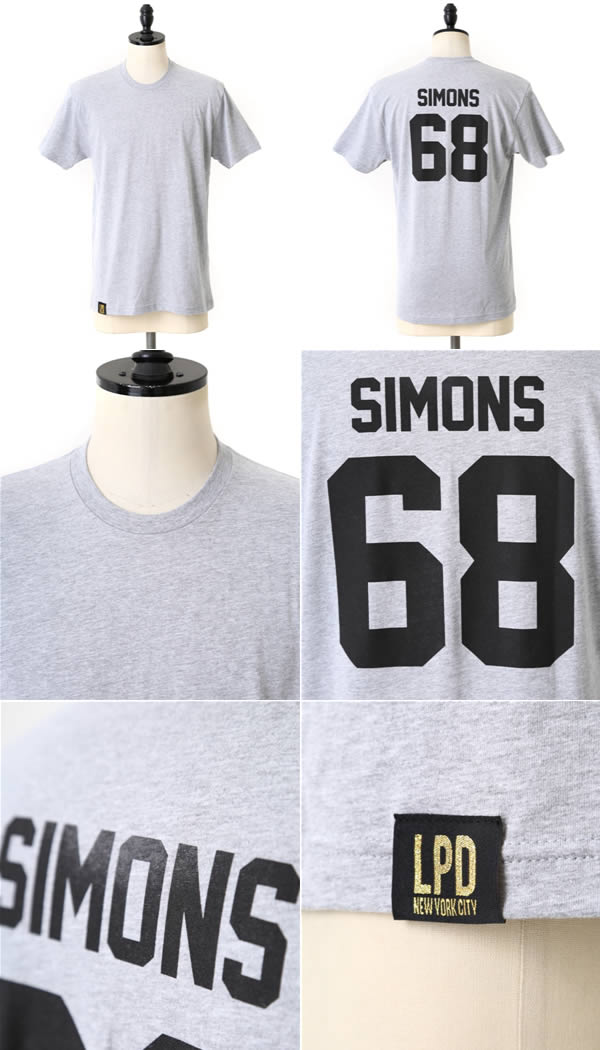LPD New York Les ply Dore) TEAM SIMONS T-SHIRT (rough Simmons RAF SIMONS les plus dores T shirt short sleeve) TEAM-SIMONS-T-SHIRT-gry