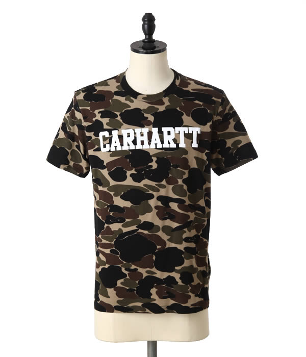 Carhartt WIP [Carhartt work InProgress, S / S COLLEGE ALLOVER T-SHIRT (the Carhartt short sleeve T shirt College all over tee-shirt sewn) I018488