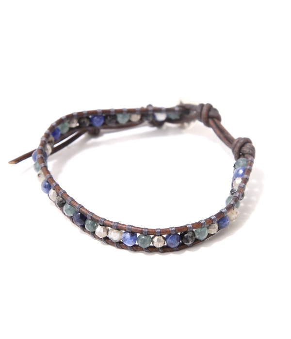 CHAN LUU(チャンルー) / BS-4919 / 1 Wrap Blacelet -VTVR MIX NGRY- (チャンルー ブレスレット アクセサリー ギフト Pier ACC ) BS-4919-VTVR【PIE】