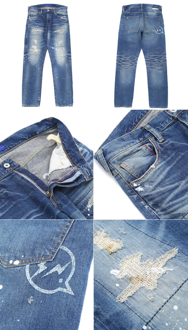 DENIM BY VANQUISH & FRAGMENT [デニムバイヴァンキッシュフラグメント] / VFP1043 five year wash wide straight denim pants (denim jeans pants bottoms)