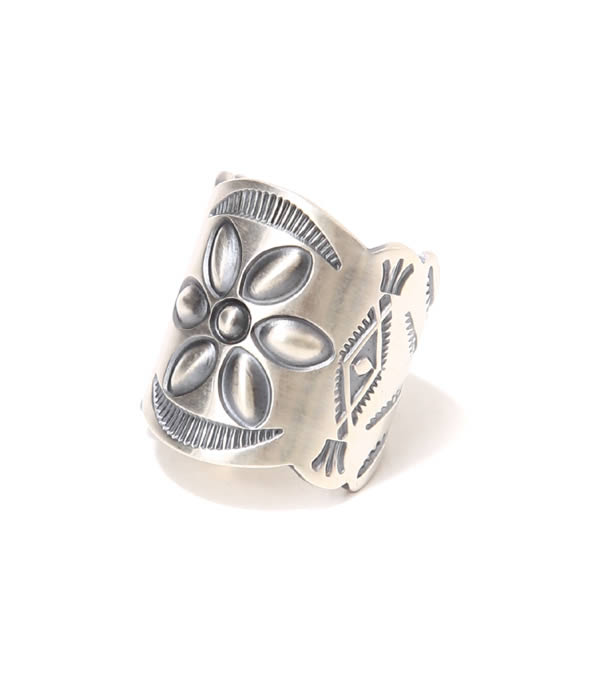 hobo / ホーボー : Desert Flower Silver Tapered Band RING by STANLEY PARKER : シルバー リング 指輪 アクセサリー : HB-A2208【NOA】