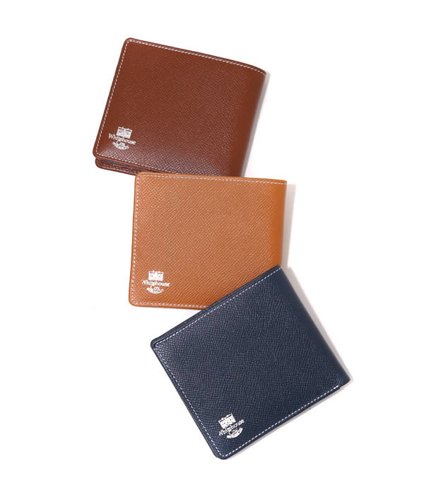 Whitehouse Cox / ホワイトハウスコックス : 【LONDON CALF×BRIDLE LEATHER COLLECTION】NOTECASE WALLET / 全3色 : 二つ折り財布 ウォレット レザー ギフトラッピング可能 : S-8772-LONDONCALF-BLC【MUS】