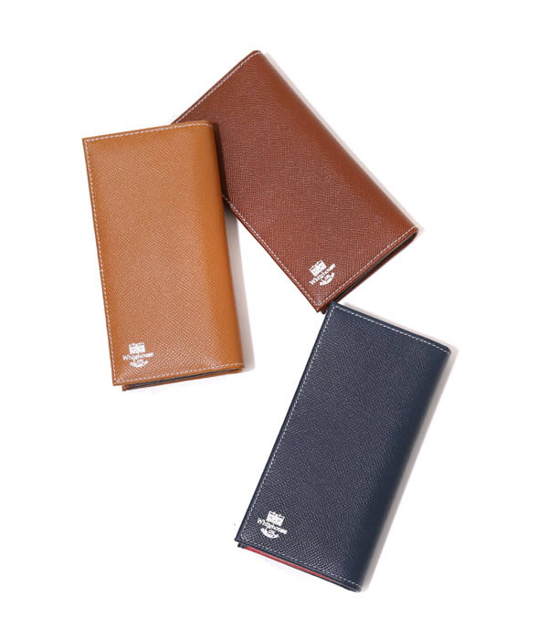 Whitehouse Cox (화이트 하우스 콕스)/LONG WALLET (London Calf×Bridle Leather Collection) (지갑 긴 지갑 선물 포장 가능) S-9697-LONDONCALF-BLC