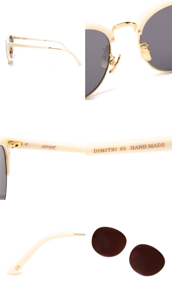 A.D.S.R./ 迪米特里哑光白/黄金 (手做的男人的女人,eDiets 是太阳镜的眼镜,ADSR) DIMITRI05