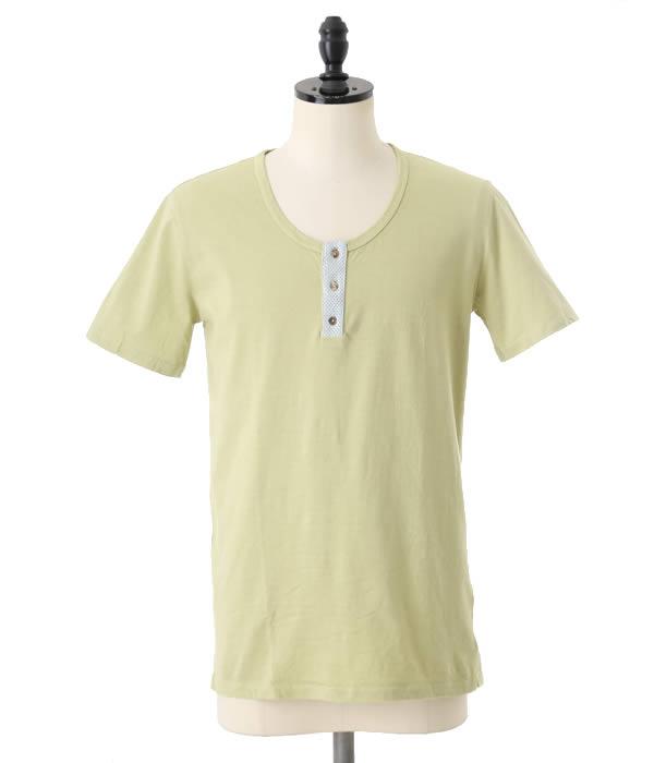 【SPECIAL PRICE!】GIORGIO BRATO / ジョルジオブラット : HENLEYNECK CUTSEW-AVENA : Tシャツ 半袖 カットソー ヘンリーネック : TSWLG63-AVENA 【RIP】