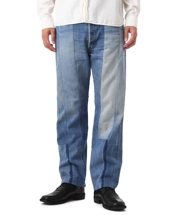 UNUSED / アンユーズド : Remake denim pants. (デニム ジーパン リメイク ハンドメイド デニムパンツ ジーンズ ボトムス) UW0500【NOA】
