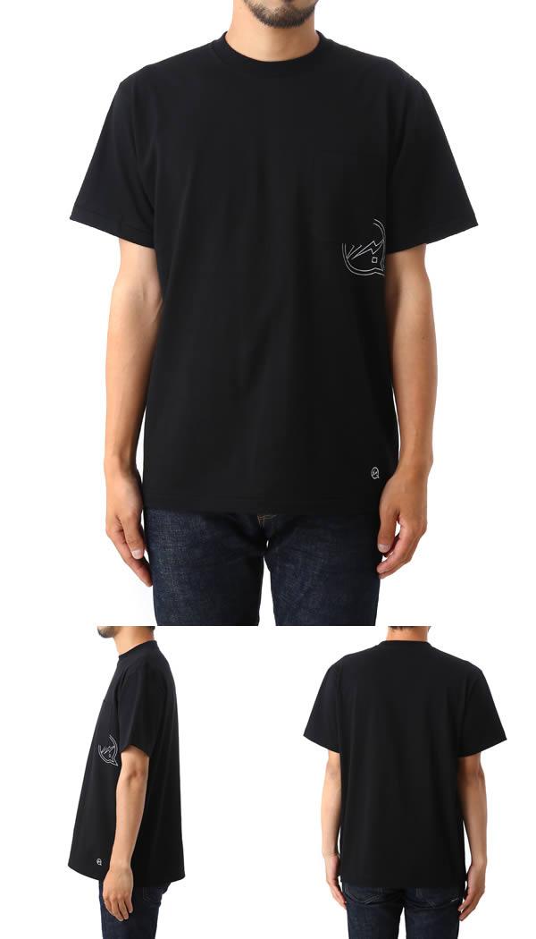 DENIM BY VANQUISH & FRAGMENT[데님바이바킷슈후라그먼트] / POKET CREW NECK T-SHIRT (크루 넥 T T셔츠 TEE 셔츠) VFC1048
