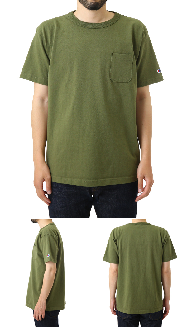 09f44bbe ARKnets: Champion / champion: T-1011 US T-SHIRT -ARMY GREEN-: It is ...