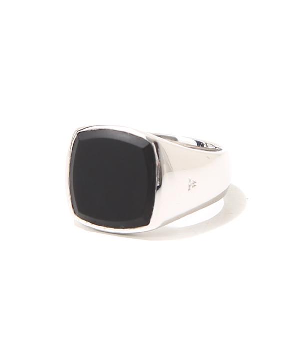 TOMWOOD / トムウッド : Cushion Black Onyx Ring M : トムウッド シルバーリング 指輪 : R74HP-MBO01【RIP】