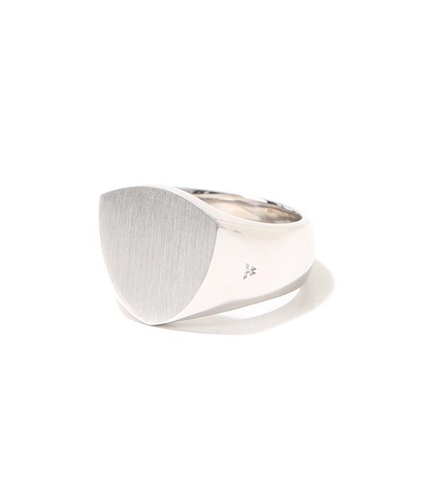 TOMWOOD / トムウッド : Shield Satin Ring M : トムウッド シルバーリング 指輪 : R74IA-NA02【RIP】