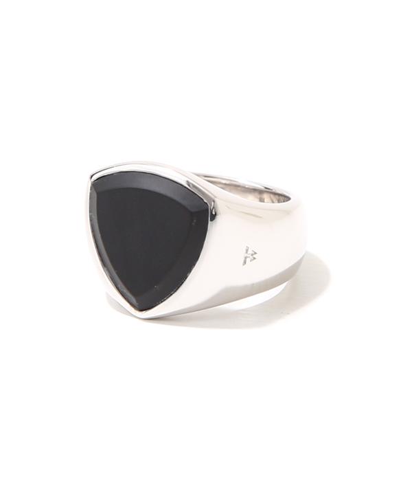 TOMWOOD / トムウッド : Shield Black Onyx Ring W woman (レディースサイズ8・10・12号) : トムウッド シルバーリング 指輪 : R74HZ-MBO01【ANN】