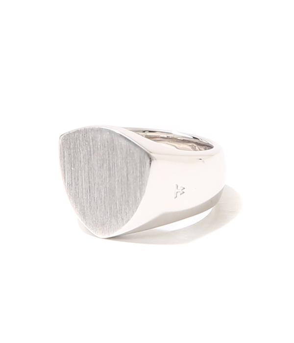 TOMWOOD / トムウッド : Shield Satin Ring W woman (レディースサイズ8・10・12号) : トムウッド シルバーリング 指輪 : R74IB-NA02【ANN】