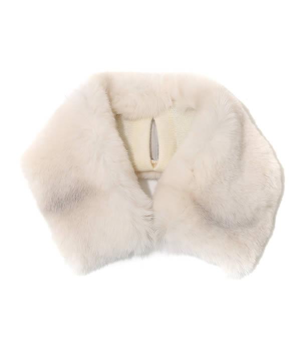 manipuri / マニプリ : Fur neck warmer Large (40cm×8cm) / 全2色 : ネックウォーマー ファー プリント : neck-warmer-L-R【ANN】