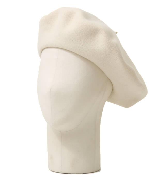 BUENA VISTA / ブエナビスタ : Basque Beret (13.5) ホワイト : バスク ベレー ベレー帽 帽子 バスクハット : TDB-06【ARK】【WIS】