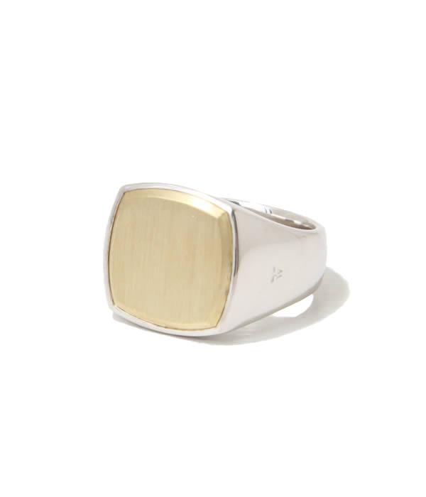 TOMWOOD / トムウッド : Cushion Gold Top (M) : クッションゴールドトップ ゴールド リング 指輪 : R74HN-NA02【RIP】