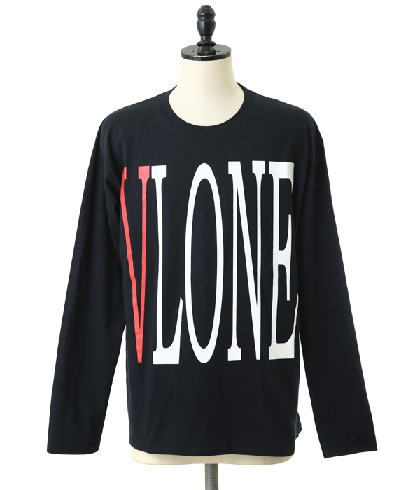【SPECIAL PRICE!】VLONE / ヴィーローン : STAPLE LONG SLEEVE SHIRT BLACK : ロング スリーブ シャツ 長袖 : VLONE-NO3-ITEM【WAX】