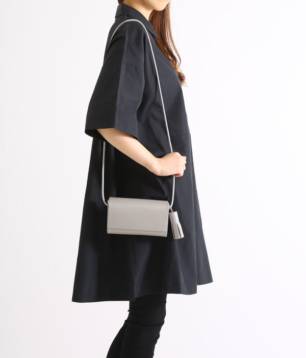 Building Block Pee In Concrete Shoulder Bag Pe Leather Lilac Buildingblock Lady S Rubber Straps Mousse
