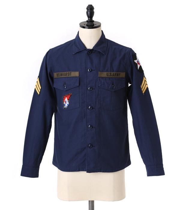 Marka [marker] / JL UTILITY SHIRTS (military utility shirt) MSTD-10SH01C-nav