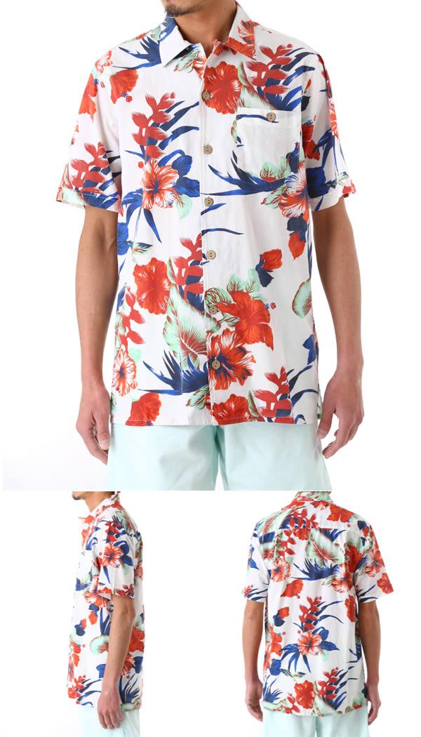 Lightning Bolt(라이트닝보르트) / Paradise Flowers Aloha Shirt(화려한 셔츠 화려한 셔츠 반소매) 061 MACAM103