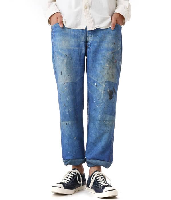 TALKING ABOUT THE ABSTRACTION (토킹 어 바 웃 디 추상화)/커스텀 Denim 9/L Print Sweat Pants (데님 스웨트 팬츠) CG-I-002A