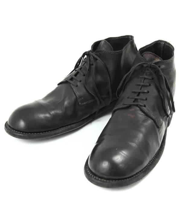 GUIDI / グイディ : MIDLACE BOOTS / - ベイビーカーフ - : guidi ブーツ ミッドレースシューズ レザーシューズ 革靴 短靴 : 994T-calfblk-4a【RIP】【BJB】