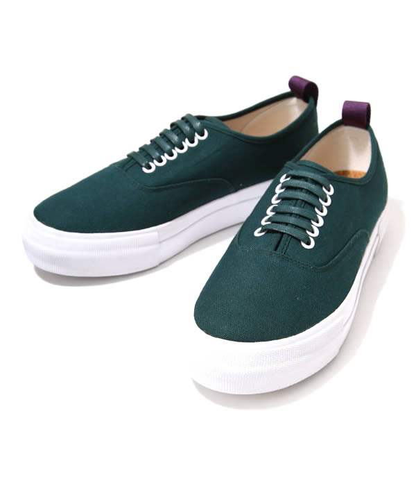 EYTYS (エイティーズ) LO CUT DECK SHOES-BOTTLE GREEN-(두꺼운 바닥 고무 단독 캔버스) MOTHER-CANVAS-B-GRN