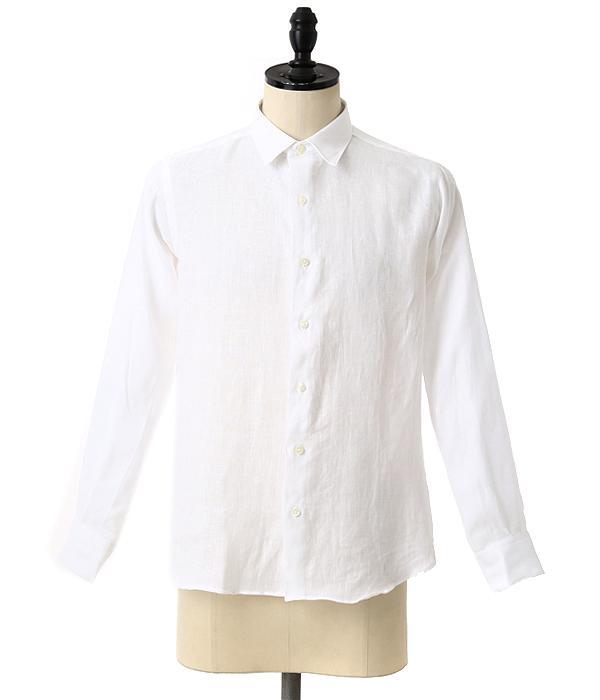 INDIVIDUALIZED SHIRTS / インディビジュアライズド シャツ : 別注L/S Narrow Fit Linen shirts(シャツ)IDS-00000-1-nsf-LN-WT【MUS】