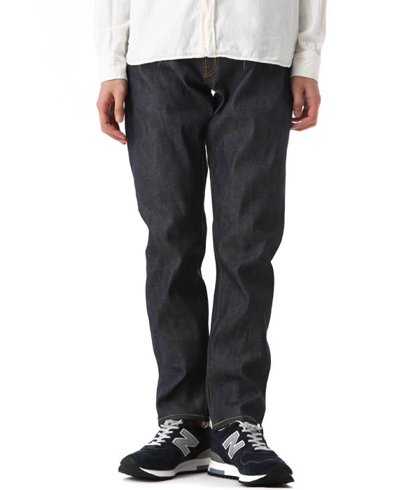 DENIM BY VANQUISH & FRAGMENT [데님 바이 밴 퀴 시 조각]/NW stay blue wide straight denim pants (데님 강 원시 데님 조각 시티 팬츠) VFP1031
