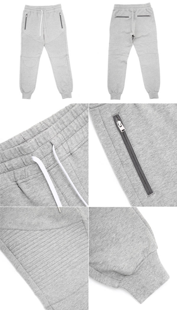 Stampd (우표 드)/Grey Essential Moto Warm Up Pants (STAMPD LA DOPE by STAMPD 트레이닝 복 팬츠) SLA-M544PT
