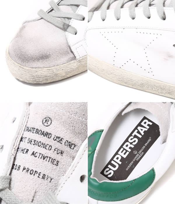 GOLDEN GOOSE [no] / SNEAKERS SUPER STAR-WHITE GREEN SKATE-(no Sneakers Shoes vintage) G26U590-C1