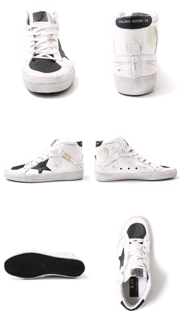 GOLDEN GOOSE [no] / 2.12 SNEAKERS-WHITE BLACK NET-(no Sneakers Shoes vintage) G26U599-E5