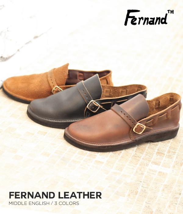 FERNAND LEATHER / フェルナンドレザー : Middle English / 全3色 / : オーロラシューズ シューズ サンダル 靴 : SH-ASST【STD】