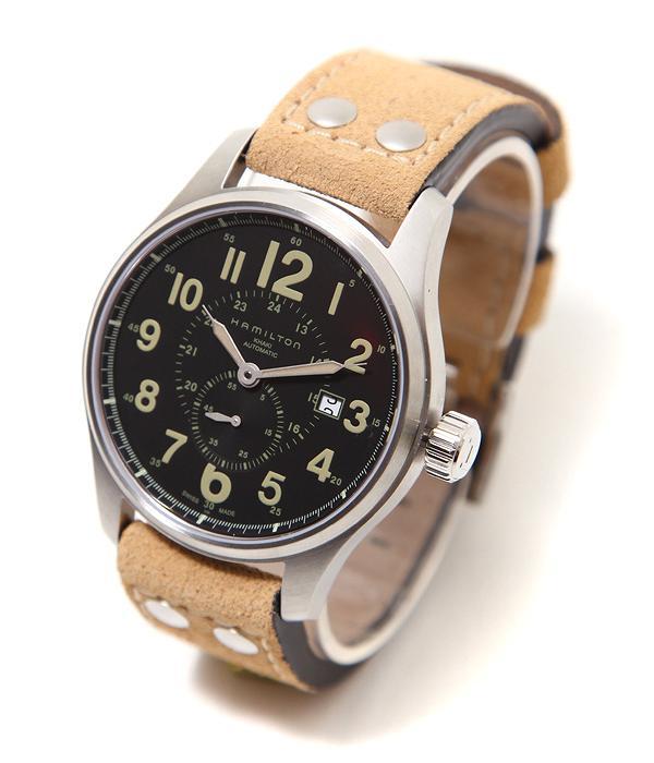 HAMILTON / ハミルトン : カーキ オフィサー オート : 時計 腕時計 ウォッチ : H70655733【MUS】