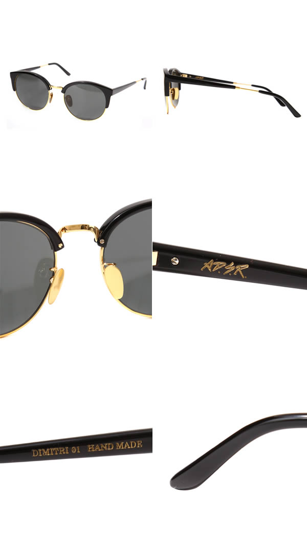 A. D. S. R. [r edit Yes] / DIMITRI 01 SHINY BLACK/GOLD (ADSR eDiets are Dimitri sunglasses) DIMITRI01