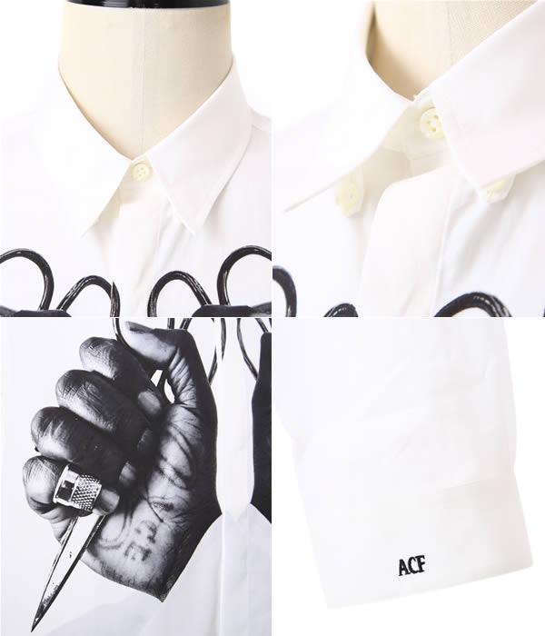 ART COMES FIRST [アートカムズファースト]/ACF S-HAND SHIRT (アートカムズファースト 핸드 셔츠 프린트 긴 소매) 924Print