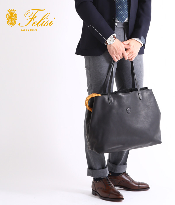 Felisi / フェリージ : TOTE BAG-BLACK- : トートバッグ トート レザー バッグ カバン : 15-20-NKDS-NK004【MUS】【BJB】