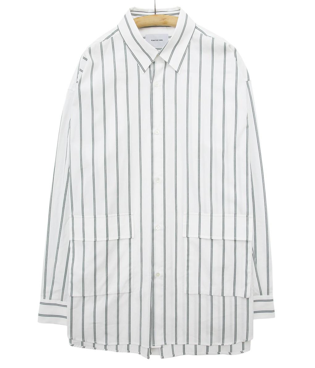 PORT BY ARK / ポートバイアーク : W pocket shirts : ポートバイアーク ダブルポケットシャツ ポケットシャツ シャツ ロングスリーブシャツ / 全2色 : PO05-SH001 【COR】【BJB】