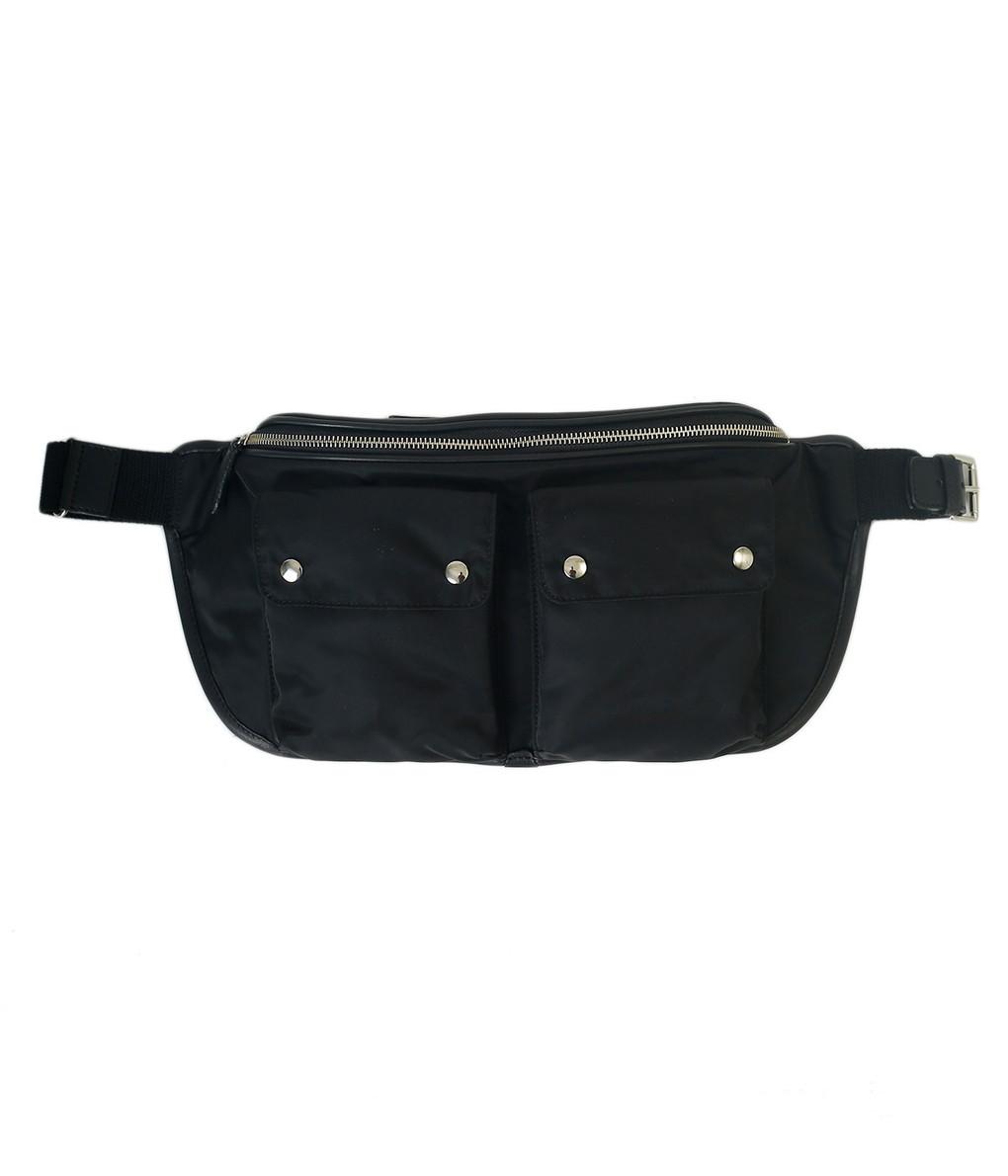 Felisi / フェリージ : Waist Bag : バッグ ウエストバッグ フェリージ ナイロン 本革 メンズ : 999-1-DSNK041-bjb 【BJB】