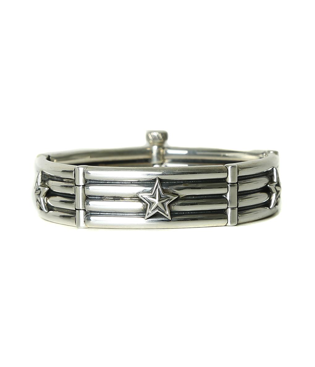 【アウトレットキャンペーン!】CODY SANDERSON / コディサンダーソン : 4 Row Wire Link with Stars Bracelet :フォーロウリンクウィズスターブレスレット: C1-03-029-bjb 【BJB】