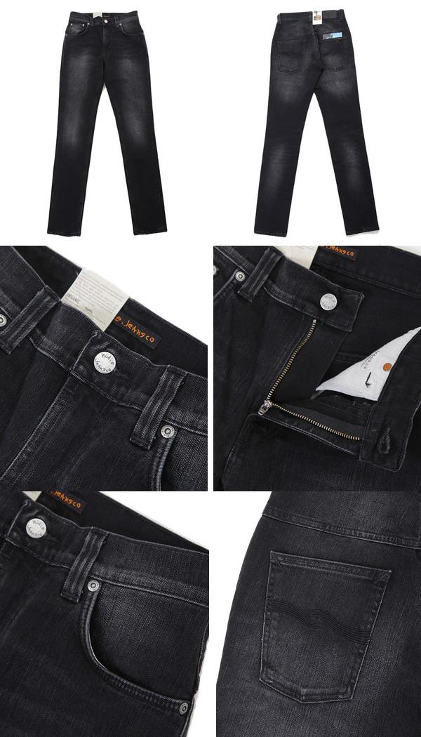 Nudie Jeans[누디 청바지] / Thin Finn -Black Fall-(누디진즈신핀데님진즈) 44161-1107-bjb