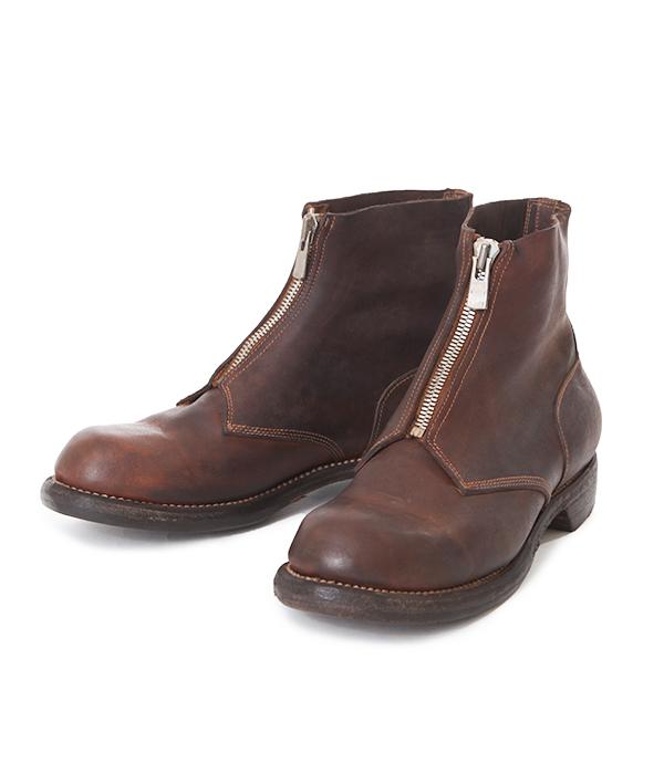 GUIDI (귀 디)/5305FZ Culatta Full Grain Front zip boot (guidi 레자 − 신발 가죽 부츠 프런트 지퍼) 5305FZ-CV85T-bjb
